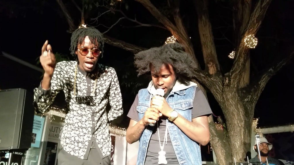 popcaan and chi ching reshmabchains popup shop jamaica